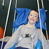 Image of a boy at AnMed Health Pediatric Therapy Works